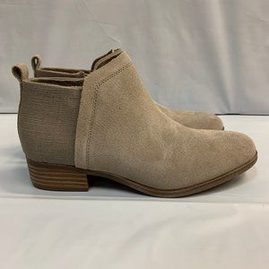 Toms Womens Deia Desert Taupe Ankle Booties NO BOX